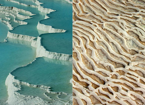 The Travertine Terraces of Pamukkale